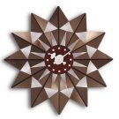 Brown Butterfly Clock