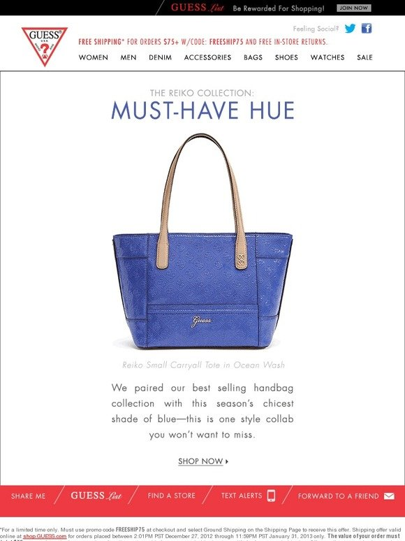 Guess True Blue Style Shop Reiko In Our Newest Hue Milled