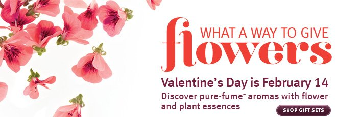 what a way to give flowers.  valentine's day is february 14. shop gift sets.