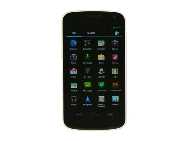 Samsung Galaxy Nexus GT-i9250 White 3G Unlocked GSM Android Smart Phone w/ Android 4.0 / 5 MP Camera / 16GB Internal Memory / NFC