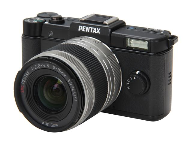 PENTAX Q (15100) Black 12.4 MP 3.0 inch 460K LCD Digital Camera with 02 Standard Zoom Lens