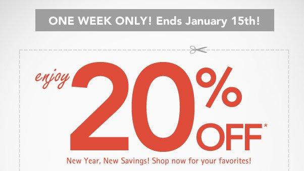 WOW - Enjoy 20% Off!