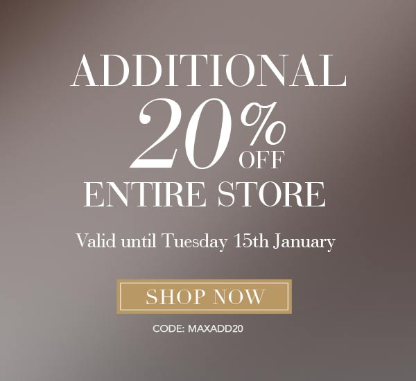 MaxStudio 20% off Entire Store Extended 1 Week