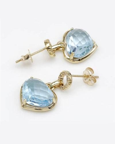 Ladies Topaz Earrings Designed In 10K Yellow Gold $379