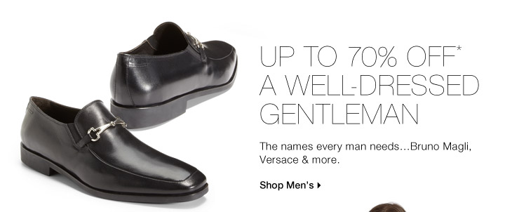 Up To 70% Off* A Well-Dressed Gentleman