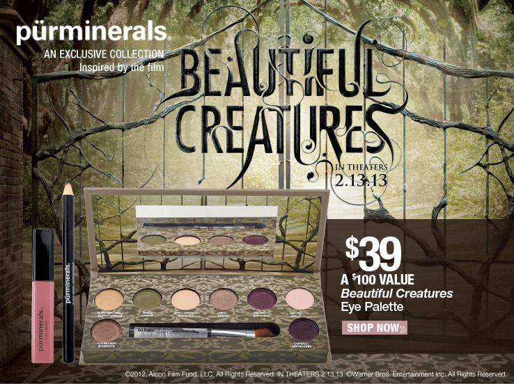 Purminerals Beautiful Creatures Eye Palette $39. A $100 Value. Shop Now.