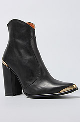 The Dani Cap Boot in Black and Gold
