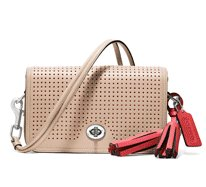 perforated leather penny shoulder