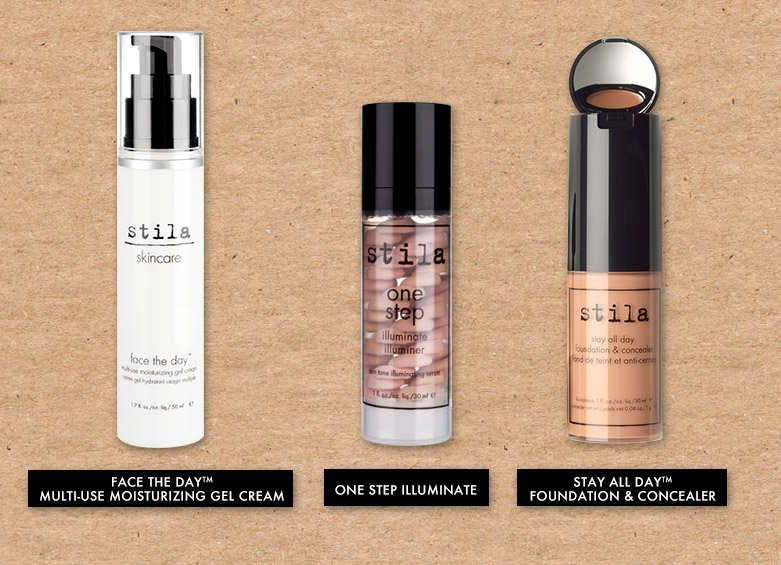 moisturizer, illuminater and foundation