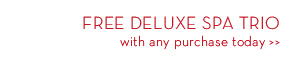 FREE DELUXE SPA TRIO with any purchase today.