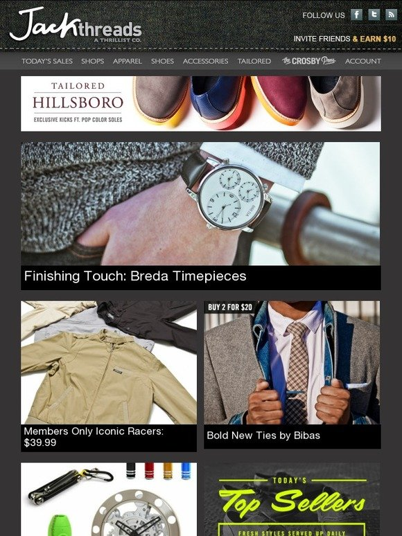 Jack threads brand new breda watches members only racer for Funky home decor accessories