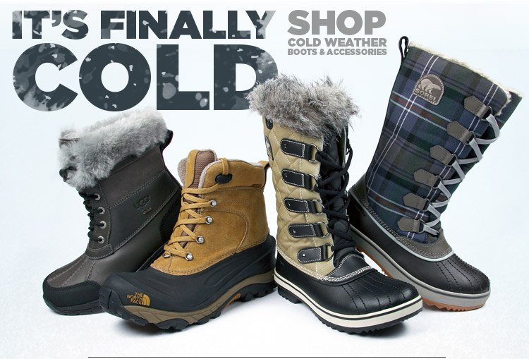 It's Finally Cold. Shop Cold Weather Boots + Accessories.