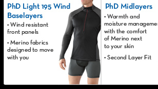 PhD Light 195 Wind Baselayers