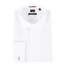 Paul Smith Shirts - White Striped Jacquard Evening Shirt