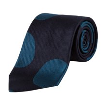 Paul Smith Ties - Classic Large Teal Spot Tie
