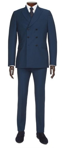 Paul Smith Suits - Petrol Blue Double-Breasted Suit