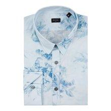 Paul Smith Shirts - Blue X-Ray Floral Print Shirt