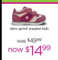 retro print sneaker kids