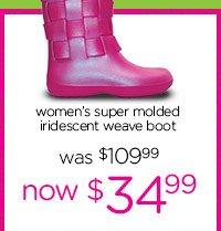 women's super molded iridescent weave boot