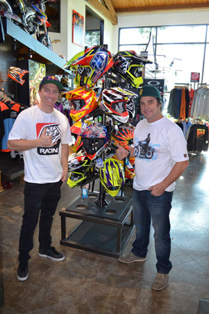 Aaron Gwin and Troy Lee