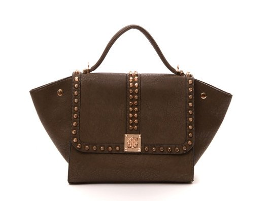 This versatile bag is chic for so many reasons. The stud detail gives it that edgy feeling that I love--so hot!