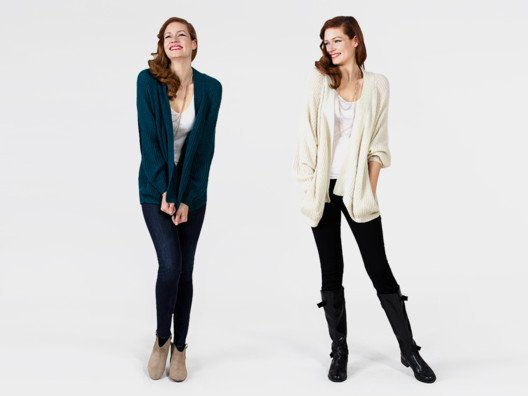 I love wearing cardigans like this one because they're sophisticated, yet comfortable.