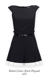 Belted Colour Block Playsuit