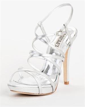 Badgley Mischka Strappy Vamp Design Heeled Sandals