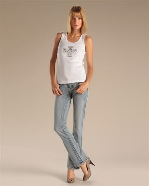 Antique Rivet Studded Denim Jeans