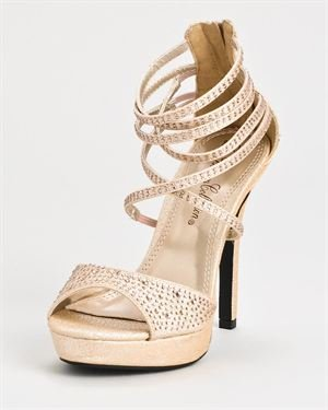 De Blossom Collection Isabel Strappy Heels $35