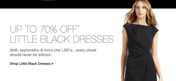 Up To 70% Off* Little Black Dresses