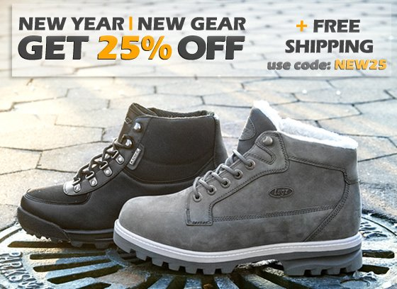 Get 25% OFF + Free Shipping For the New Year