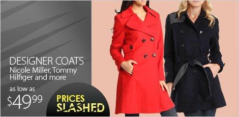 Designer coats from Nicole Miller, Tommy Hilfiger & more