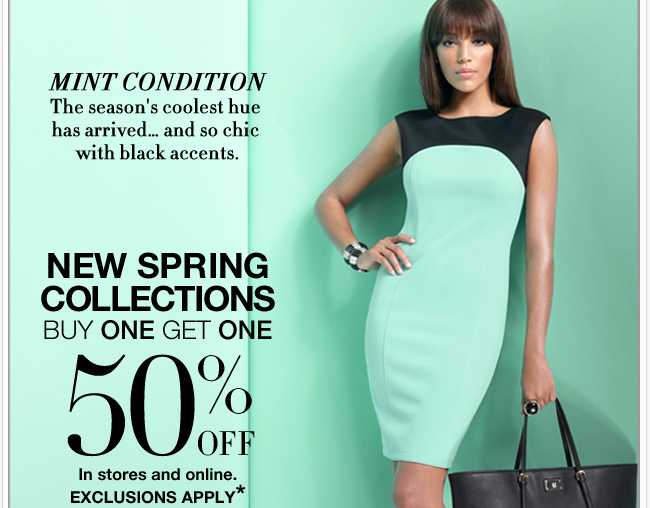 Shop New Spring Collections now! Buy One Get One 50% Off!