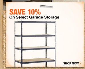 Save 10% On Select Garage Storage