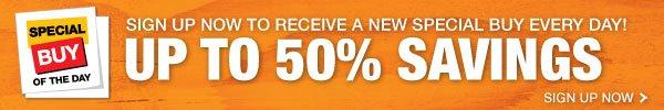 Up to 50% Savings