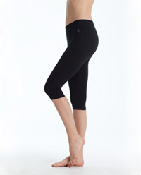 Cotton Blend Crop Legging