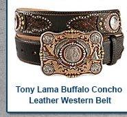 Tony Lama Buffalo Concho Heritage Belt