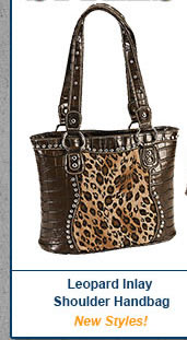 Leopard Inlay Shoulder Bag