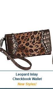 Leopard Inlay Checkbook