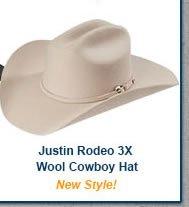 Justin Rodeo 3X Wool