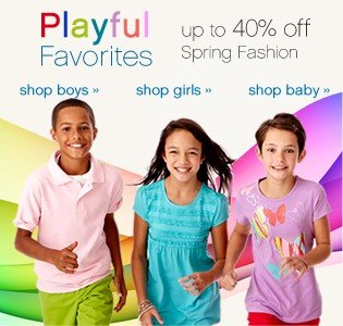 Playful Favorites up to 40% off Spring Fashion