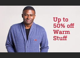 Up to 50% off Warm Stuff