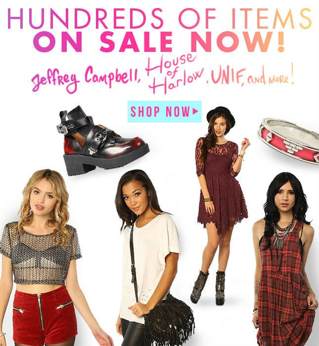On Sale! Jeff Campbell, House of Harlow, UNIF and more! Shop Miss KL Now!