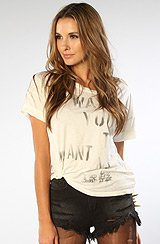 The What You Want Me Boxy Tee in Vintage White