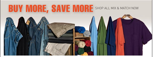 Buy More, Save More - Shop All Mix & Match Now