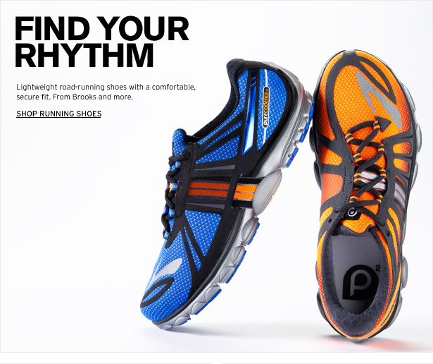 FIND YOUR RHYTHM - Lightweight road-running shoes with a comfortable, secure fit. From Brooks and more. SHOP RUNNING SHOES