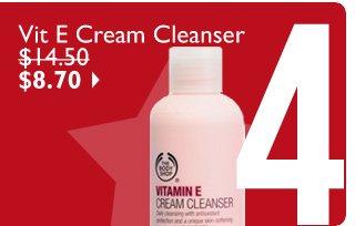 Vit E Cream Cleanser $14.50 $8.70