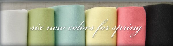 six new colors for spring