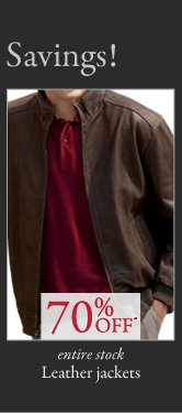 70% OFF* Leather Jackets